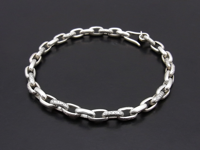 Carved Chain Bracelet Small