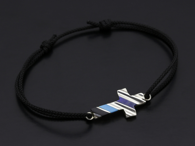 Wave Edge Cross Cord Bracelet
