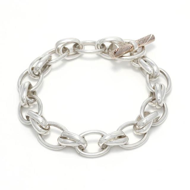 Lg. W Ring Bracelet / MOKUME T-Bar