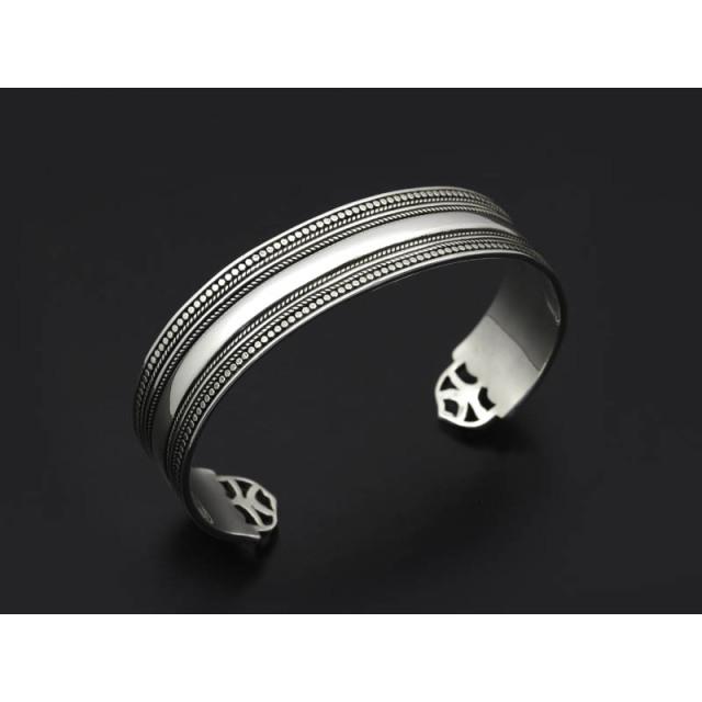 Twisted Wire Plain Wide Bracelet