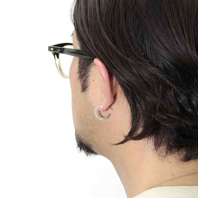 10K Eternal Carving Hoop Pierce