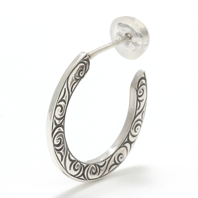 Eternal Carving Hoop Pierce