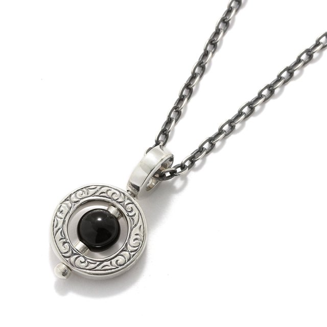 Eternal Carving Bramanda Necklace SV/Onyx