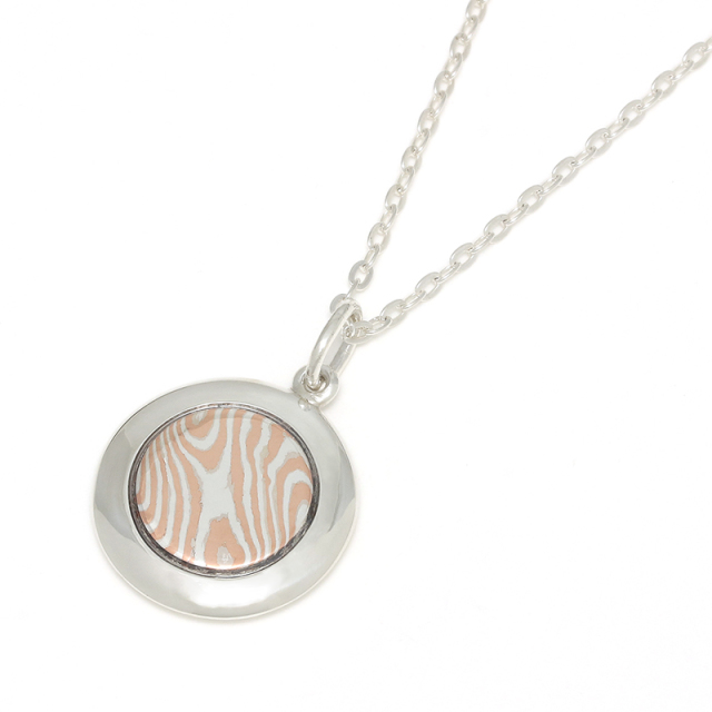 MOKUME Round Disc Necklace