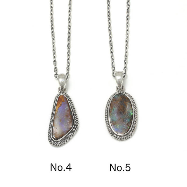 Large Opal Stone Necklace
