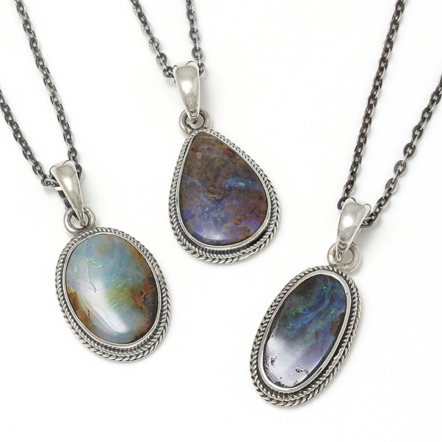 Medium Opal Stone Necklace