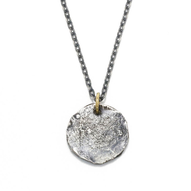 Remix Coin Necklace - Silver w/18KYG