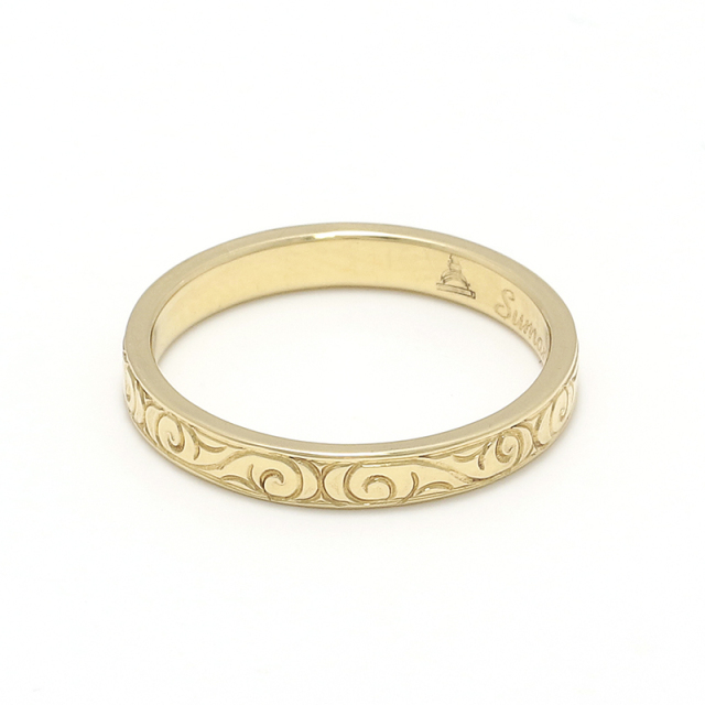 18K Eternal Carving Ring