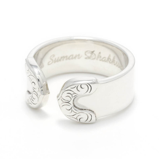 Lotus Ring Plain / Silver Carving