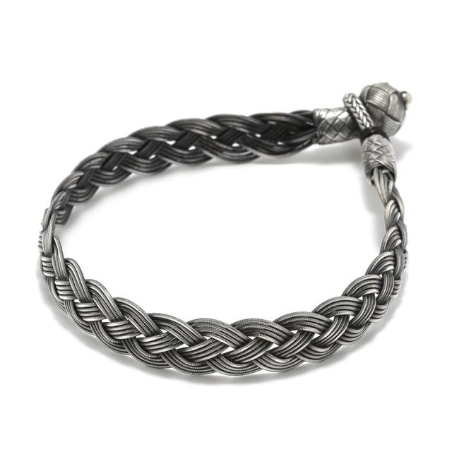 Oxidized Silver Bracelet