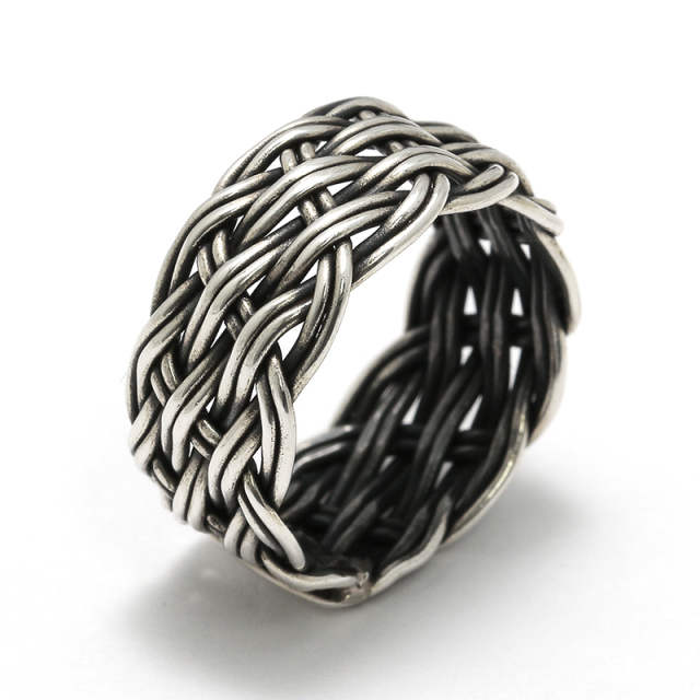 Oxidized Silver Ring - Wide
