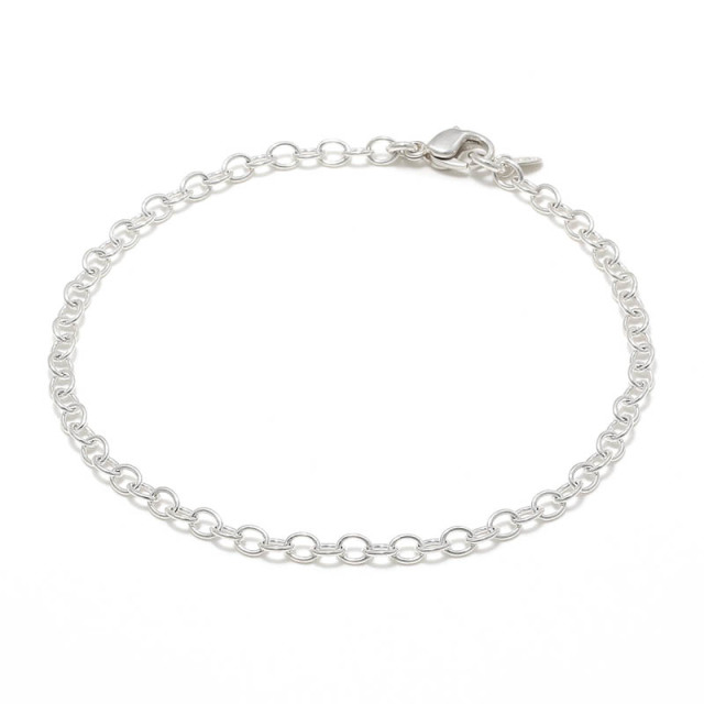 JUST GOOD Chain Bracelet - Round - Silver