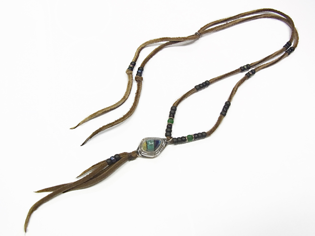 amara×SYMPATHY OF SOUL Inlay Leather Necklace