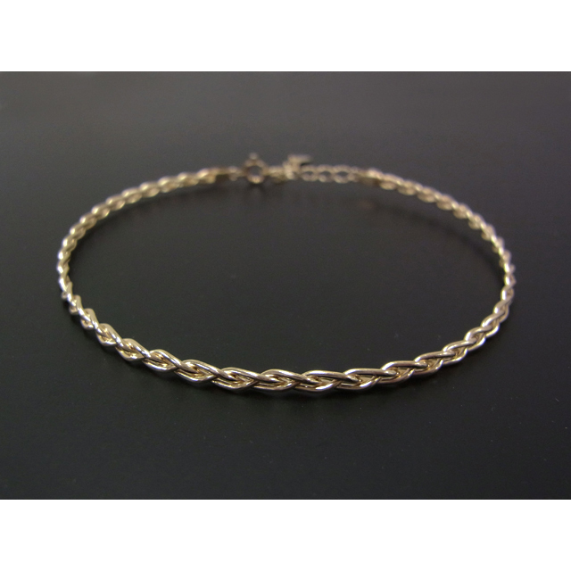 Woven Bangle - L K10Yellow Gold