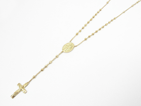 Divine Rosary Short - K18 Yellow Gold