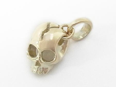Liberty Skull Charm - K10Yellow Gold