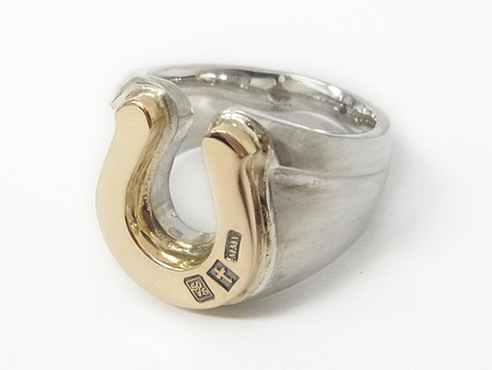 Combination Horseshoe Ring - Silver×K10 Yellow Gold