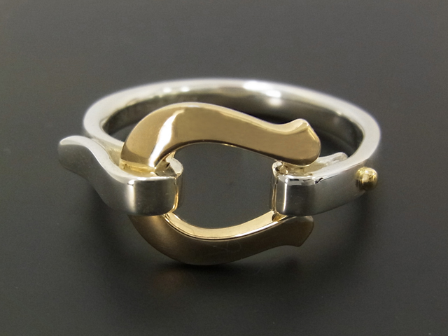 Horseshoe Band Ring - Silver×K18Yellow Gold