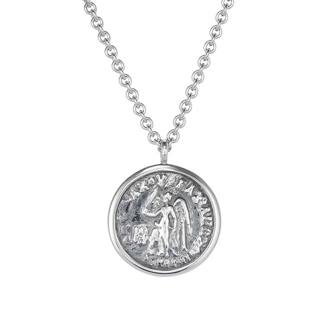 TOMWOOD Coin Pendant Angel Silver