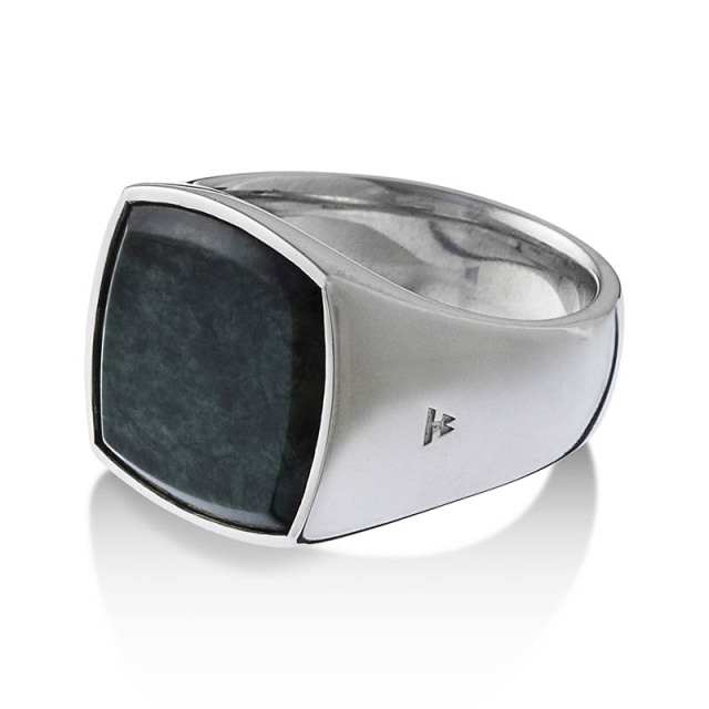 TOMWOOD Cushion Green Marble (M) Ring