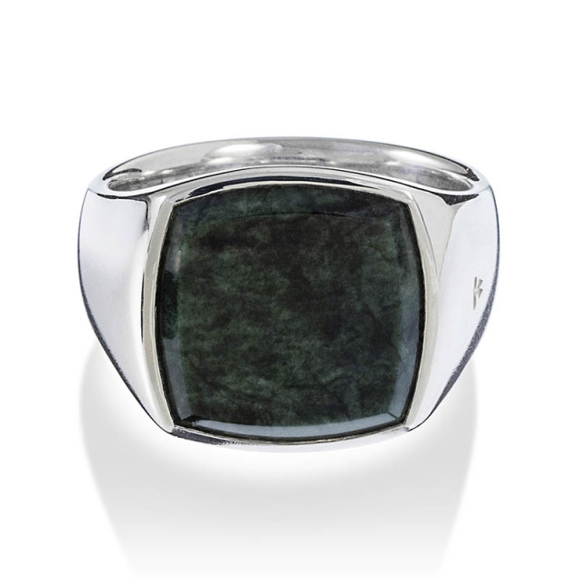 Cushion Green Marble (M) Ring