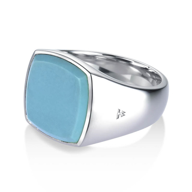 TOMWOOD Cushion Turquoise Ring - M