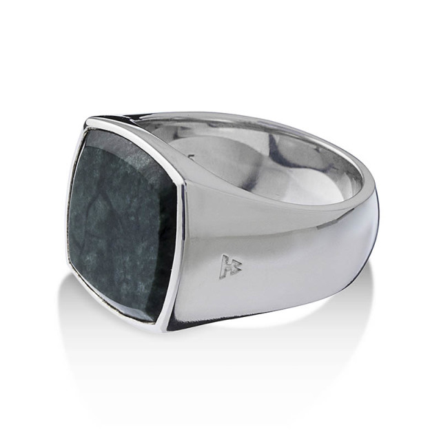 TOMWOOD Cushion Green Marble Ring