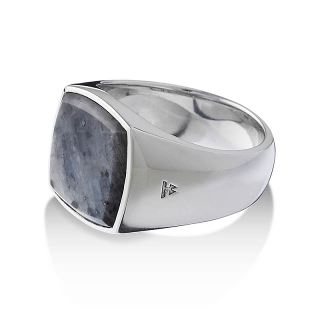 TOMWOOD Cushion Larvikite Ring