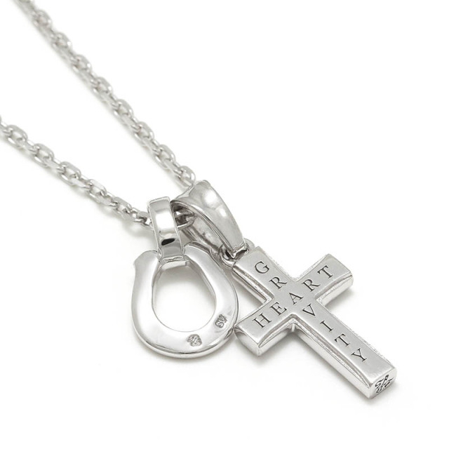 S.O.S fp恵比寿本店、WEB限定 Small Gravity Cross Necklace w/Horseshoe - Silver w/CZ