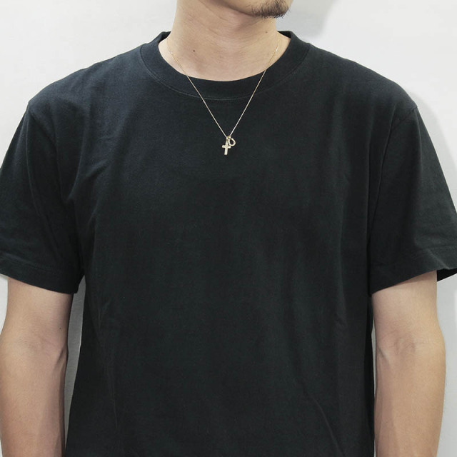 S.O.S fp恵比寿本店、WEB限定 Small Gravity Cross Necklace w/Horseshoe - K18Yellow Gold w/Diamond