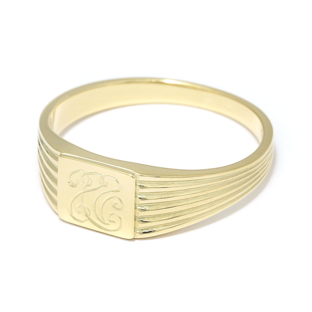 S.O.S fp恵比寿本店、WEB限定 S.O.S fp恵比寿本店15周年記念 Classic Signature Ring - K14Yellow Gold