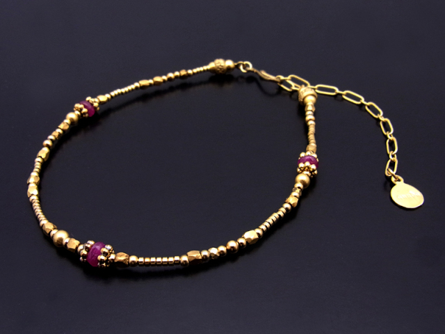 Beads Anklet w/Ruby
