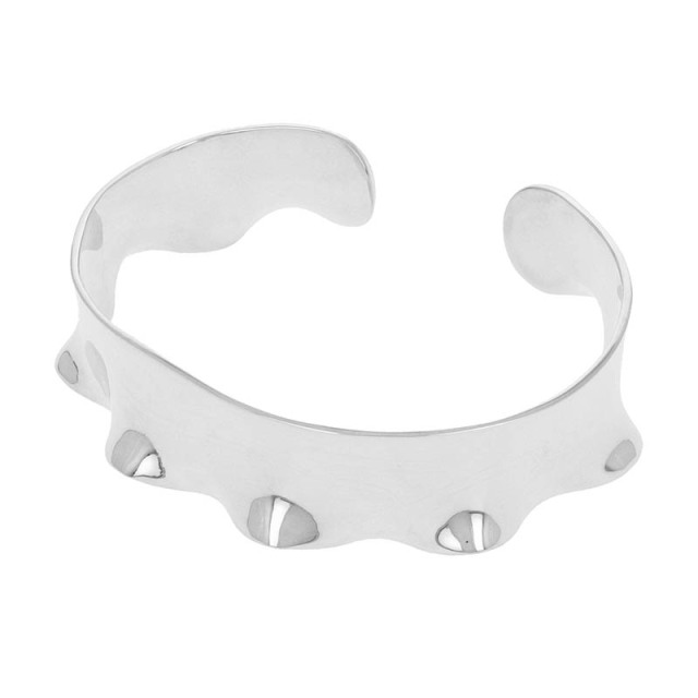 Sleeve Bangle - Silver