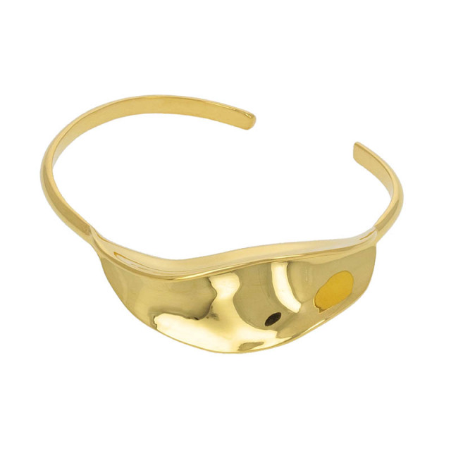 Flutter Bangle - Gold Plated