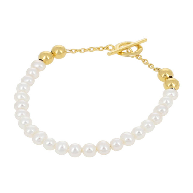 Pearl Beads T-bar Bracelet