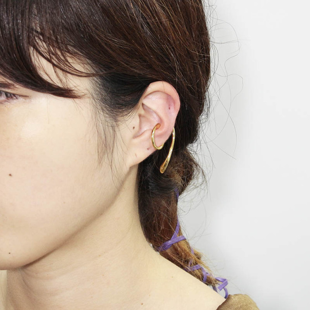 Liquid Ear Cuff Large - Gold Plated