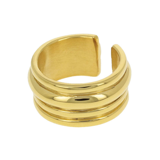 Tube Ring - Gold Plated