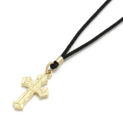 1940's Sixpence Cross Cord Necklace - K18Yellow Gold