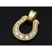 Horseshoe XL Pendant - K18Yellow Gold w/Diamond