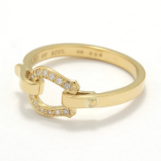 Horseshoe Band Ring Small - K18Yellow Gold w/Diamond