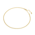 Square Chain Anklet - K18Yellow Gold