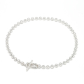 Ball Chain T-Bar Anklet