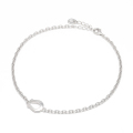 Horseshoe Amulet Chain Anklet - Silver