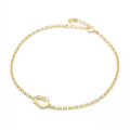 Horseshoe Amulet Chain Anklet - K18Yellow Gold