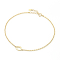 Small Horseshoe Chain Anklet - K18Yellow Gold