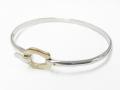 Horseshoe Combination Bangle - Silver × K10Yellow Gold