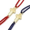 Gravity Cross Cord Bracelet & Anklet - K18YG