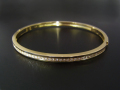 Diamond Bangle - Wide K18Yellow Gold