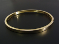 Gold Plain Bangle - K18Yellow Gold