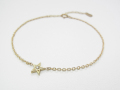 Little Shine Star Bracelet - K10 Yellow Gold w/Diamond